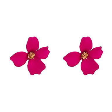 billige Moteøreringer-Dame Øredobb geometriske Blomst Stilfull øredobber Smykker Hvit / Gul / Grønn Til Gave Daglig 1 par