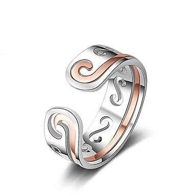 levne Fashion Ring-Pánské / Dámské Prsten 1ks Růžové zlato / Žlutá Měď Kulatý Základní / korejština / Módní Dar / Dovolená Kostýmní šperky