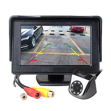 voordelige Automatisch Electronica-ziqiao 4,3 inch tft lcd-scherm auto-monitor extra parkeerplaatsen led-verlichting nachtzicht achteruitrijcamera kit