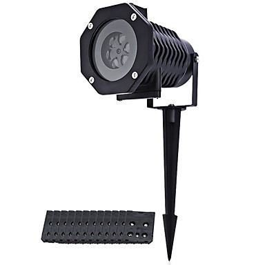 abordables Éclairage Extérieur-ywxlight® 1pc 12card rgb led flocon de neige étape lumière extérieure modèle étanche lumière projecteur lumière pelouse lumière noël lumière