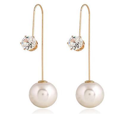voordelige Dames Sieraden-Dames Druppel oorbellen Lang Traan Stijlvol oorbellen Sieraden Goud Voor Feestdagen 1 paar