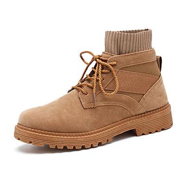 billige Nyheter-Herre Fashion Boots Semsket lær Høst vinter Fritid / Britisk Støvler Skli Ankelstøvler Svart / Mørkebrun / Kakifarget