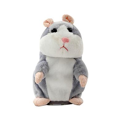 voordelige Knuffels & Pluche dieren-mooie pratende hamster spreken praten geluid opnemen herhaal gevulde pluche dier kawaii hamster speelgoed kinderen kinderen verjaardagscadeautjes