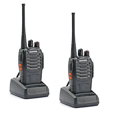 billige Walkie-talkies-2stk walkie talkie baofeng bf-888s 16ch uhf 400-470mhz baofeng 888s ham radio hf sender / mottaker amador bærbare intercomer super lydkvalitet