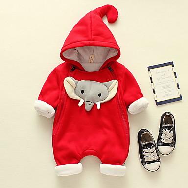 billige Babyklær Gutter-Baby Gutt Aktiv Geometrisk Trykt mønster Langermet Endelt Lyseblå