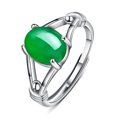 levne Fashion Ring-Dámské Prsten 1ks Zelená / Červená Měď Kulatý Vintage / Základní / Módní Dar Kostýmní šperky