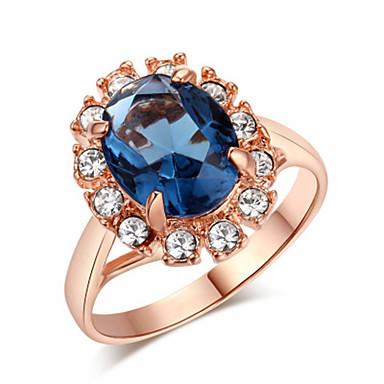abordables Bague-Femme Bague / Anneaux 1pc Vert / Rouge / Bleu Cuivre Circulaire Basique / Mode Mariage Bijoux de fantaisie