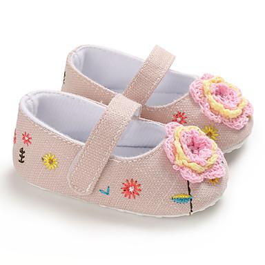 baratos Sapatos de Criança-Para Meninas Tricô Rasos Crianças (0-9m) / Criança (9m-4ys) Primeiros Passos Rosa claro / Marron / Azul Escuro Primavera / Verão