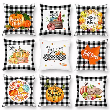 billige Putevar-halloween svart og hvitt geometrisk gresskar fersken kashmir pute veske lett sofa putevar med midje pute pute tilfelle