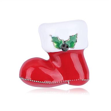voordelige Dames Sieraden-Dames Broches Broche Sieraden Rood Voor Kerstmis Dagelijks