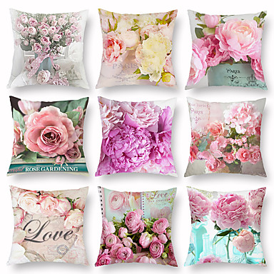 billige Putevar-blomster serie rose klem putevar sofa pute biltilbehør blomstermønster putevar