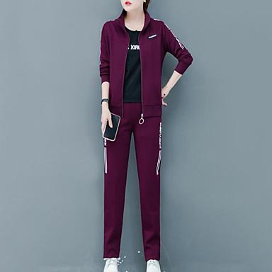 voordelige Nieuwe collectie-Dames Street chic Set Pantalon - Geplooid / Print, Geometrisch