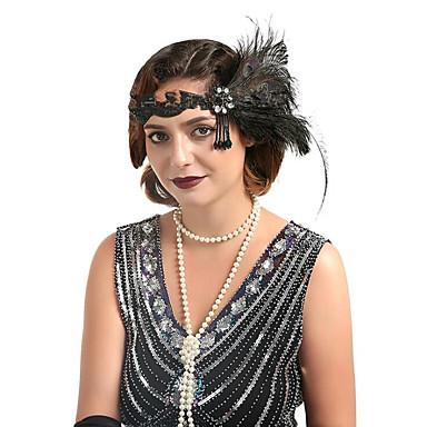 voordelige Dames Sieraden-Dames Modieus Veer Muovi Kubieke Zirkonia Haarbanden Haarringen Feest Halloween