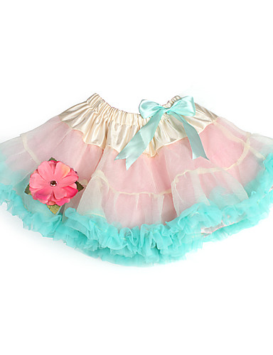 A-Line Princess Knee Length Flower Girl Dress - Tulle Charmeuse Sleeveless with Bow(s) Flower Ruffles by
