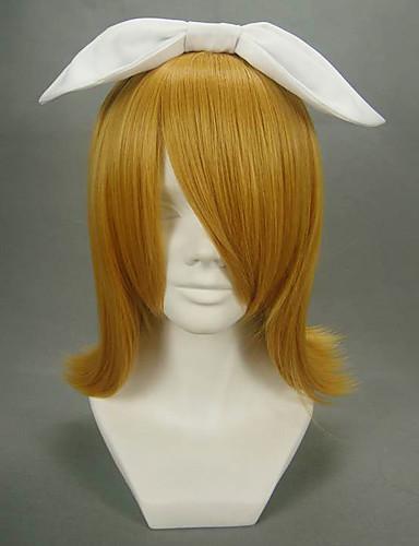 halpa Cosplay ja rooliasut-Vocaloid Kagamine Rin Cosplay-Peruukit Naisten 16 inch Heat Resistant Fiber Anime