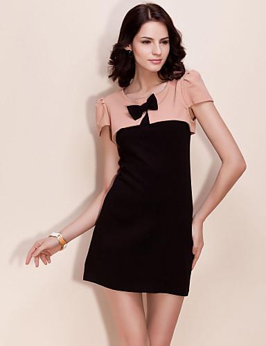TS Elegant Two-piece Contrast Color Dress (More Colors)