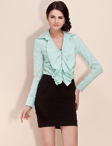 ts dragkedja volangprydd bodysuit blus skjorta (fler färger)