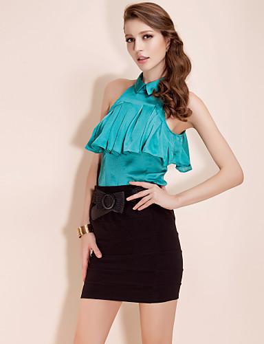 TS Halter Collar Blouse Shirt