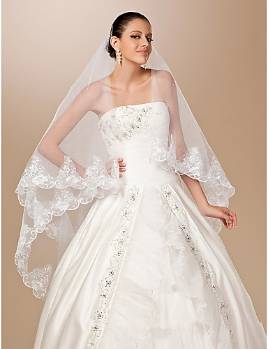 1 Layer Chapel Length Wedding Veil