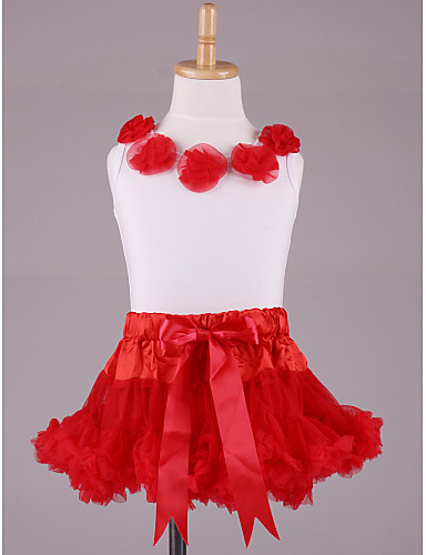 Flowers Tops With Matching PettiDress Set Chiffon Flower Girl Dress
