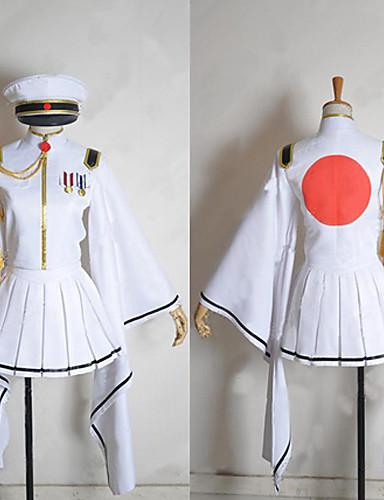 voordelige Gaming kostuums-geinspireerd door Vocaloid Hatsune Miku Video Spel Cosplaykostuums Cosplay Kostuums / Kimono Lange mouw Jas Rok Handschoenen kostuums