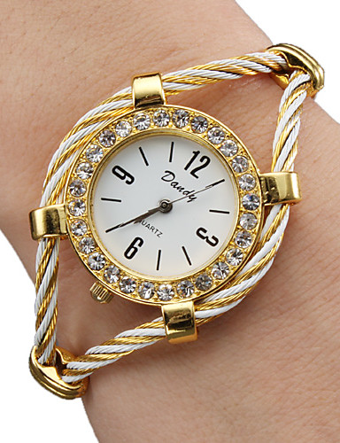 cheap Bracelet Watches-Women's Ladies Fashion Watch Bracelet Watch Quartz Gold Analog Sparkle Bangle - Gold One Year Battery Life / SSUO 377