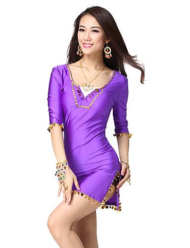 Dancewear spandex vestido de lentejuelas con la danza del vientre para damas más colores
