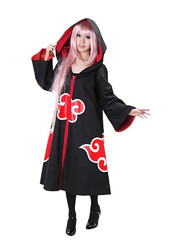 povoljno Anime kostimi-Inspirirana Naruto Akatsuki Anime Cosplay nošnje Japanski Cosplay Suits Kolaž Dugih rukava Plašt Za Žene