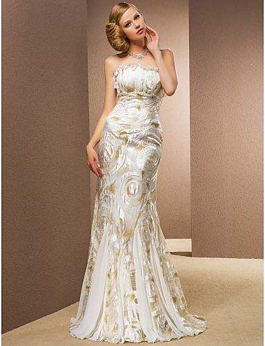 KAYLEIGH - Bröllopsklänning av Chiffon och Spets