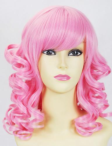 voordelige Cosplay Pruiken-Cosplaypruiken Dames 18 inch(es) Hittebestendige vezel Blozend Roze Anime