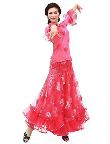 Standardní tance Úbory Dámské Trénink Šifón Přírodní