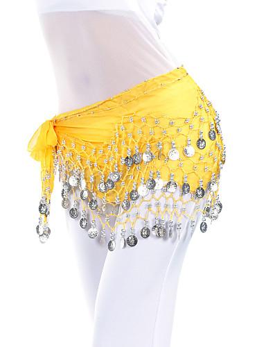 Břišní tanec Pásek Dámské Trénink Šifón Korálky Mince Šátek přes boky