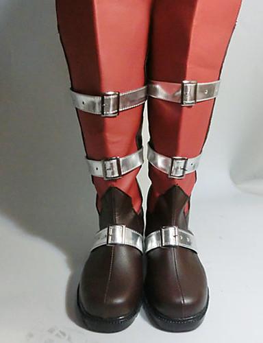 billige Videospill Cosplay Sko-Cosplay Støvler Final Fantasy Lightning Anime Cosplay-sko PU Leather Dame Halloween-kostymer
