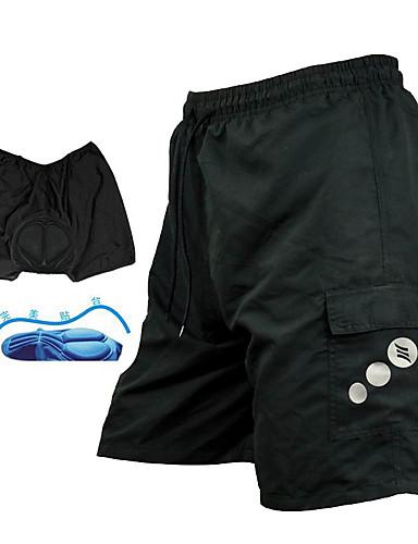 voordelige Livraison gratuite dès €69.99, Sports & Activités-SANTIC Heren Gevoerde wielrenshorts - Zwart Effen Kleur Fietsen Baggy broek MTB shorts Kleding Onderlichaam, Ademend 3D Pad Sneldrogend / Geavanceerde naaitechnieken