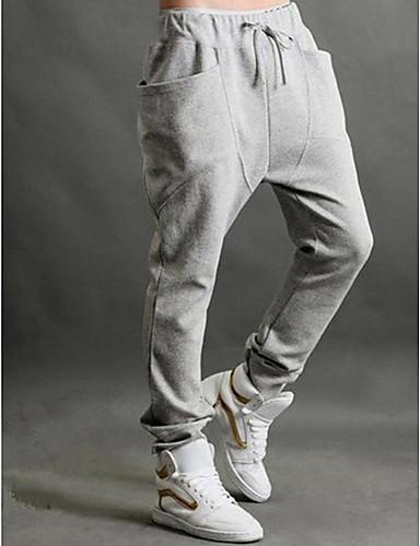 Pánské Solid Color Loose Harem Pants