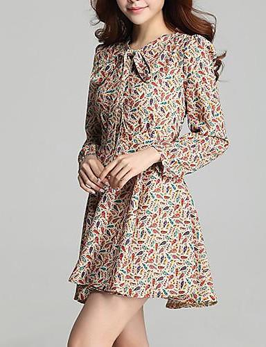 Femei Flower Show subțire Mini Dress
