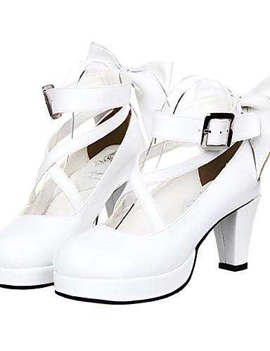 3e3673151d1 Lolita Shoes Gothic Lolita Dress Sweet Lolita Dress Classic Lolita Dress  Sweet Lolita Classic Lolita High Heel Shoes Bowknot 7 cm CM For Women s PU  Leather ...