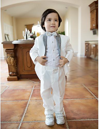 Alb Amestec poliester/bumbac Costum Cavaler Inele - 4 Include Jacketă Pantaloni Cămașă Papion