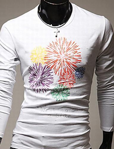 YDY моды цветочный принт длинный рукав футболки