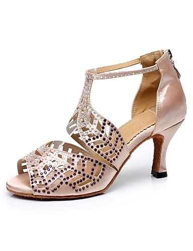 872b9a506deb Χαμηλού Κόστους Παπούτσια χορού-Γυναικεία Παπούτσια χορού λάτιν / Παπούτσια  σάλσα Μετάξι Πέδιλα Τεχνητό διαμάντι