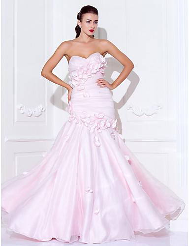 Mermaid / trompeta spaghete curele dragă podea lungime organza bal rochie de balet cu ts couture®