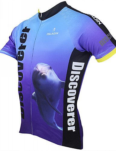 cheap Cycling Clothing-ILPALADINO Men's Short Sleeve Cycling Jersey Bike Jersey Top Breathable Quick Dry Ultraviolet Resistant Sports Polyester 100% Polyester Terylene Mountain Bike MTB Road Bike Cycling Clothing Apparel