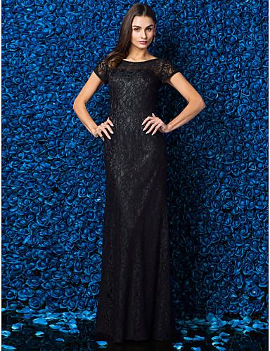 Eng anliegend Illusionsausschnitt Boden-Länge Spitze Abiball / Formeller Abend / Gala Kleid mit Spitze durch TS Couture®