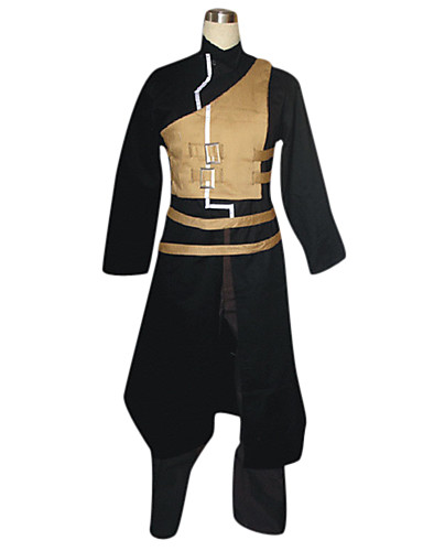 cheap Anime Costumes-Inspired by Naruto Gaara Anime Cosplay Costumes Cosplay Suits Patchwork Long Sleeve Coat / Vest / Pants For Men's