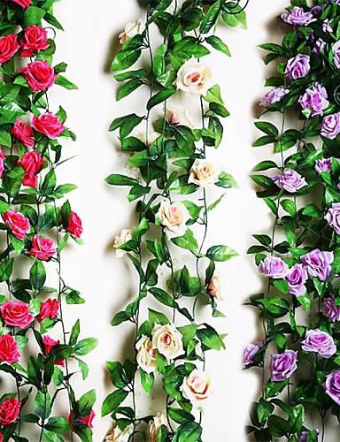 "billige Festival-95 ""l 2 stk ni vakre blomster 1 gren i roser bin (diverse farger)"