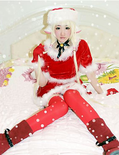 povoljno Anime kostimi-Inspirirana Cosplay HZZO Anime Cosplay nošnje Japanski Cosplay Suits Top / Suknja / Rukavice Za Žene / Šešir