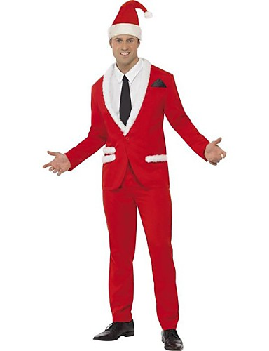 db7613bd4b4 Cosplay Costume Santa Clothes Men s Christmas Halloween Festival   Holiday  Polyester Carnival Costumes