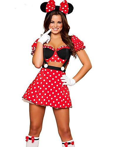 billige Halloween- og karnevalkostymer-Film & Tv Kostymer Cosplay Kostumer Party-kostyme Dame Halloween Festival / høytid Terylene Drakter Lapper