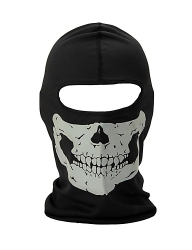 cheap Outdoor Clothing-Balaclava Pollution Protection Mask Men's Women's Camping / Hiking Hunting Climbing Bike / Cycling Thermal / Warm Windproof Quick Dry Winter Skull Black and White M / Stretchy / Mountain Bike MTB