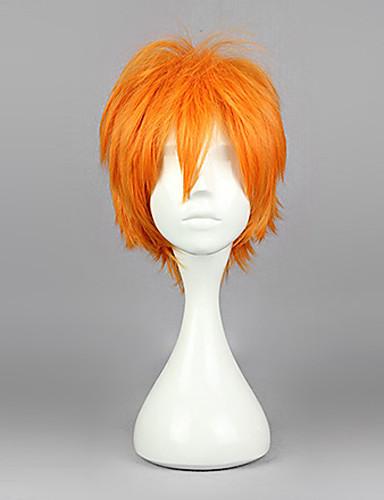 voordelige Cosplay Pruiken-Haikyuu Hinata Syouyou Cosplaypruiken Heren 12 inch(es) Hittebestendige vezel Oranje Anime